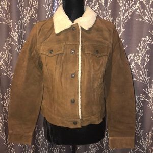 🔥$25🔥 gap leather coat size small NWT